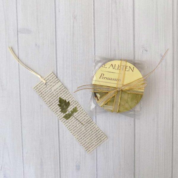 Jane Austen Book Coasters And Romantic Pressed Flower