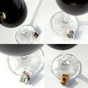 Book Wine Charms